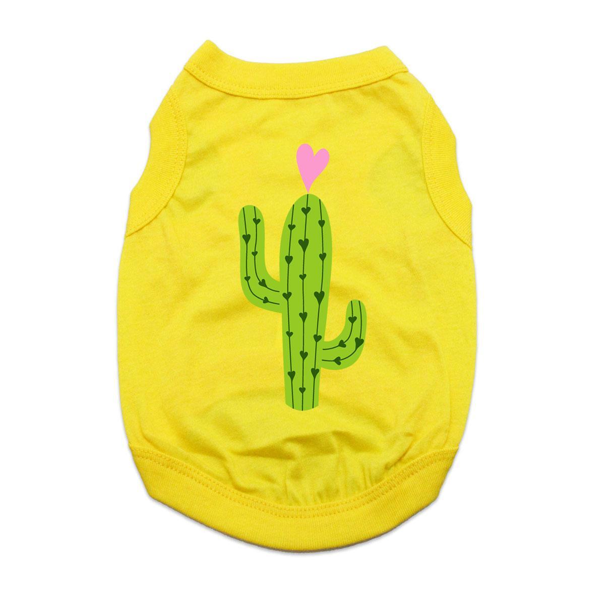 Cactus Dog Shirt - Yellow