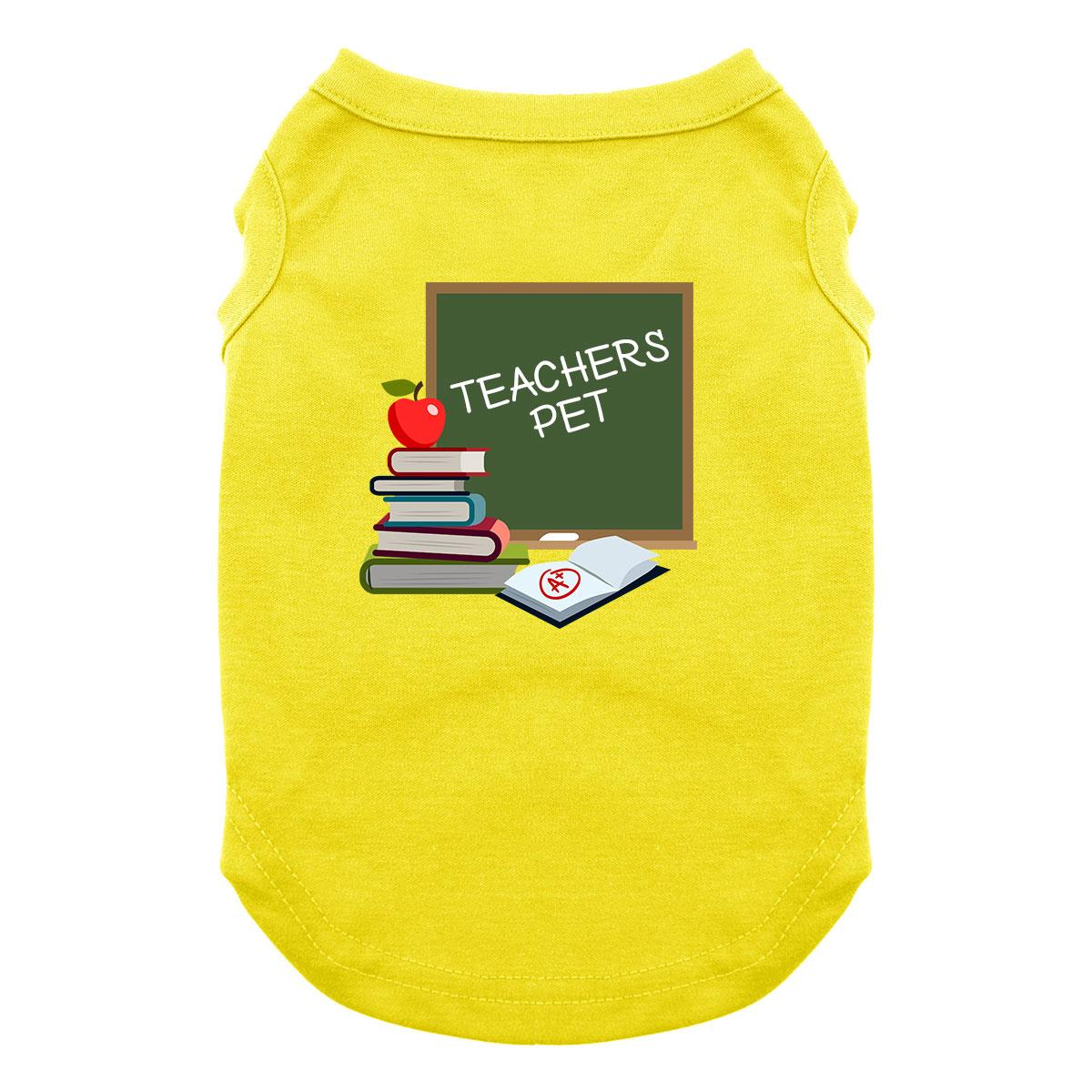 Teacher's Pet Dog Shirt - Yellow