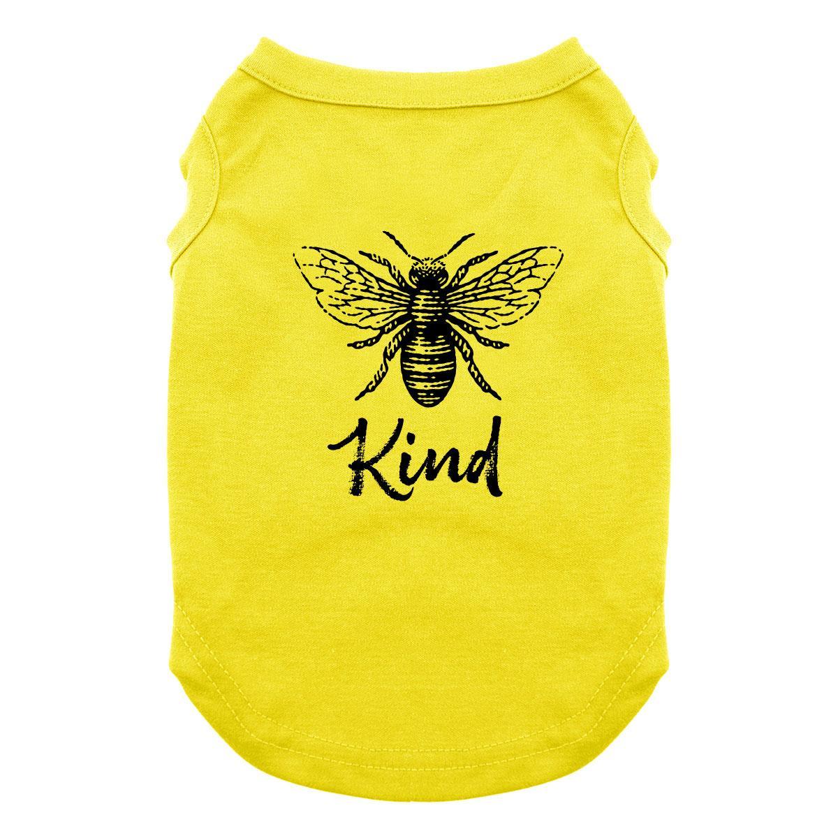 Bee Kind Dog Shirt - Yellow