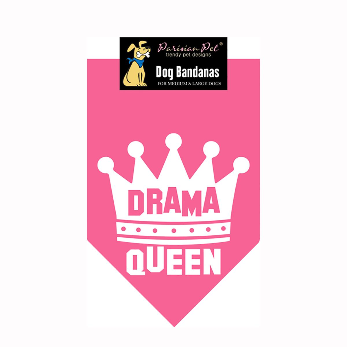 Drama Queen Dog Bandana - Pink