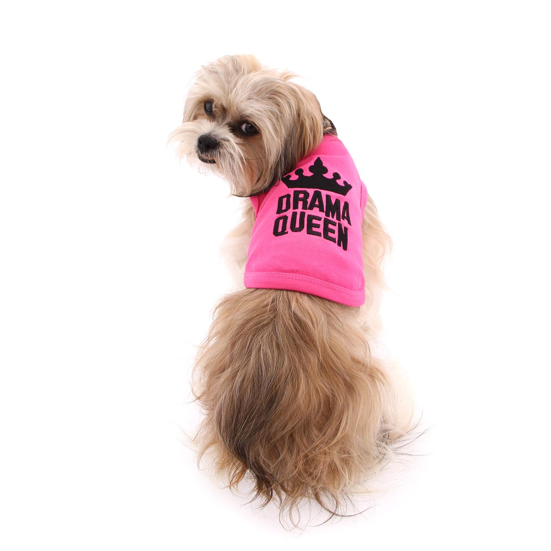 Drama Queen Dog Tank by Parisian Pet - Pink
