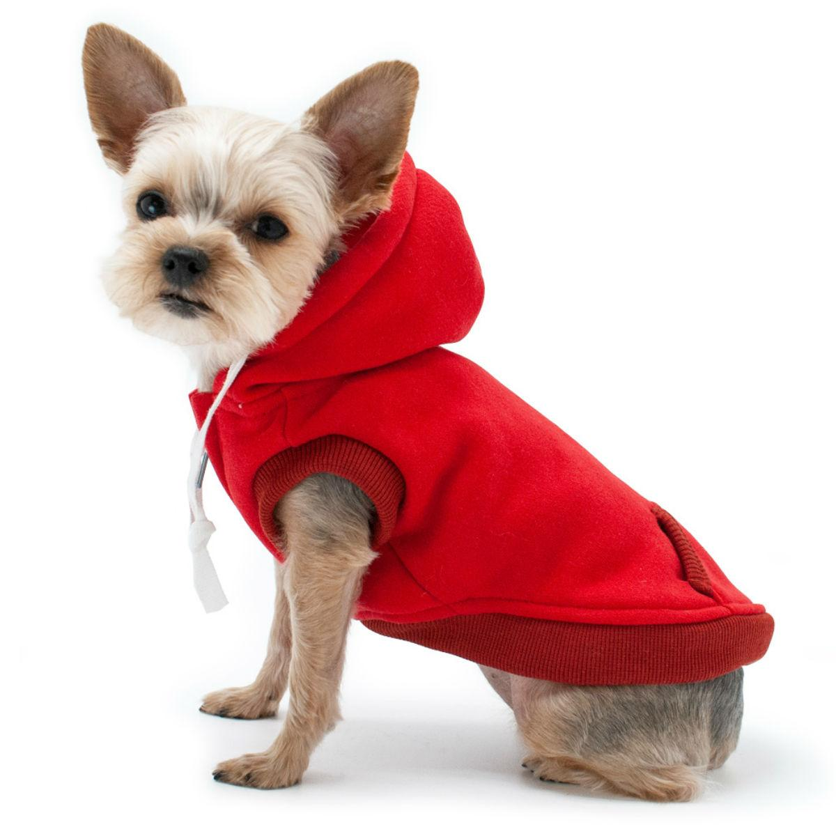 Drawstring Dog Hoodie by Dogo - Red