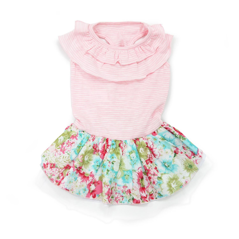 Dreamy Floral Dog Dress by Dogo - Pink