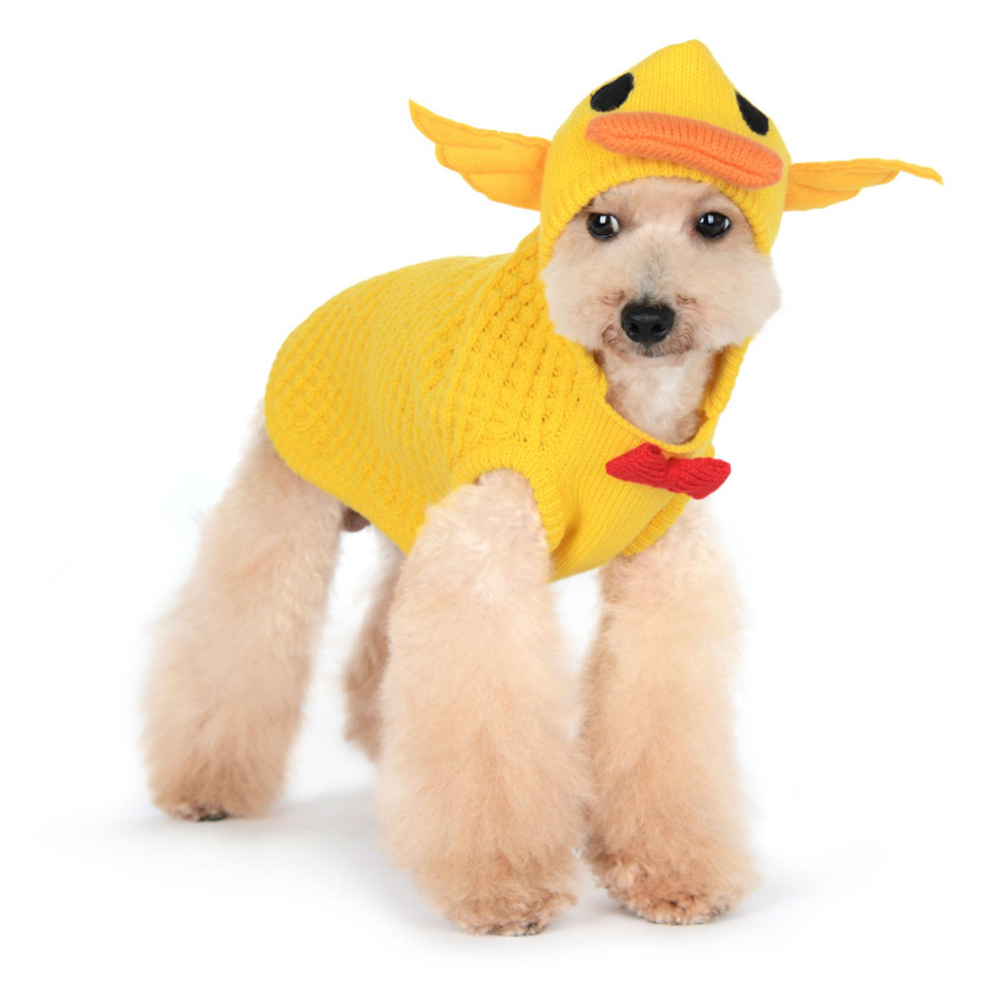 Duck Quilted Dog Sweater by Dogo - Yellow