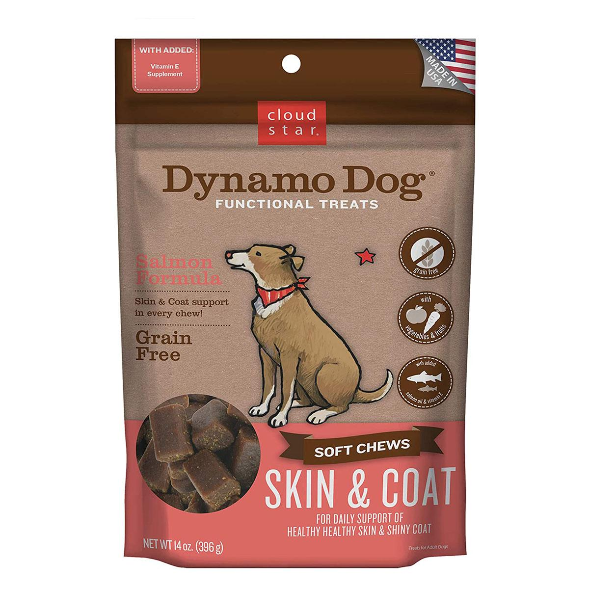 Dynamo Dog Skin and Coat Dog Treats - Salmon