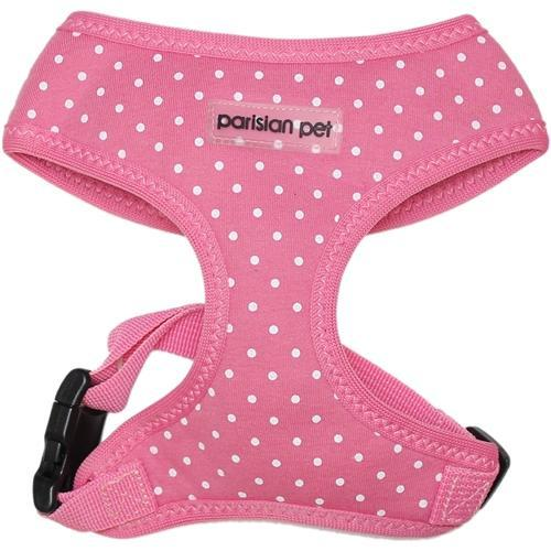 Parisian Pet Polka Dot Freedom Dog Harness - Pink