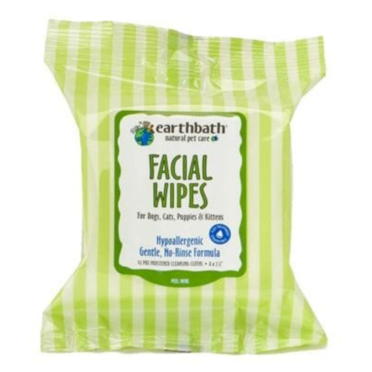 Earthbath Hypoallergenic Face Pet Wipes