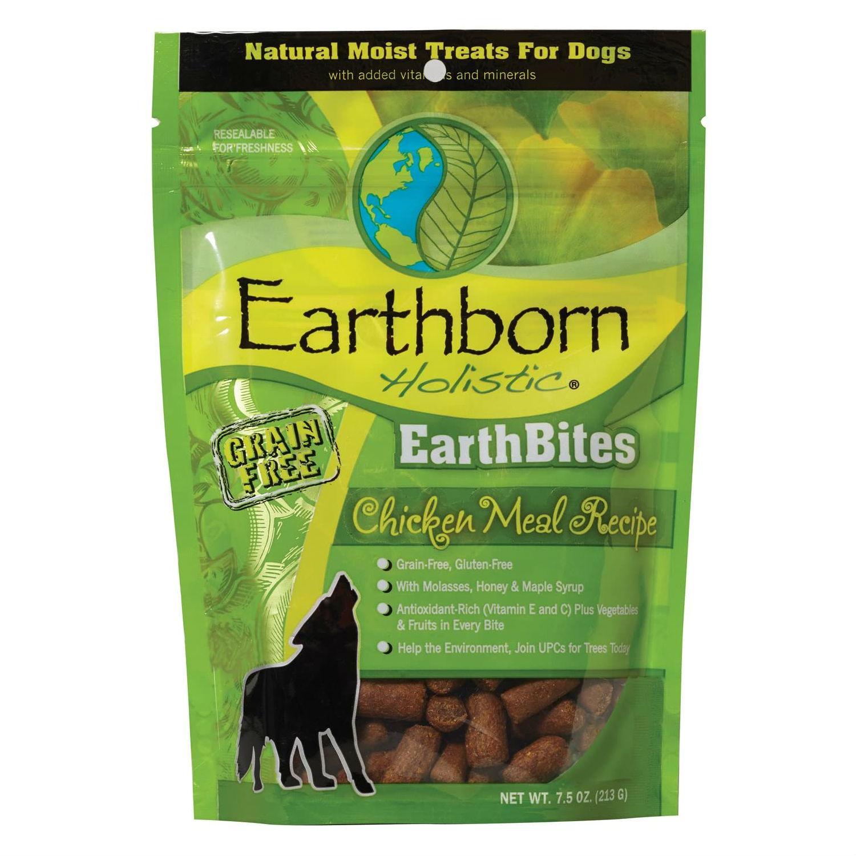 Earthborn Holistic Grain-Free EarthBites Moist Dog Treats - Chicken Meal