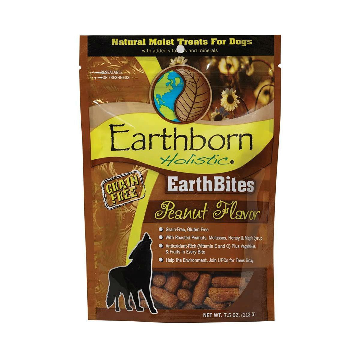 Earthborn Holistic Grain-Free EarthBites Moist Dog Treats - Peanut