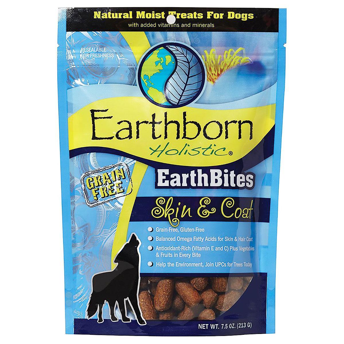 Earthborn Holistic Grain-Free EarthBites Moist Dog Treats - Skin & Coat Formula