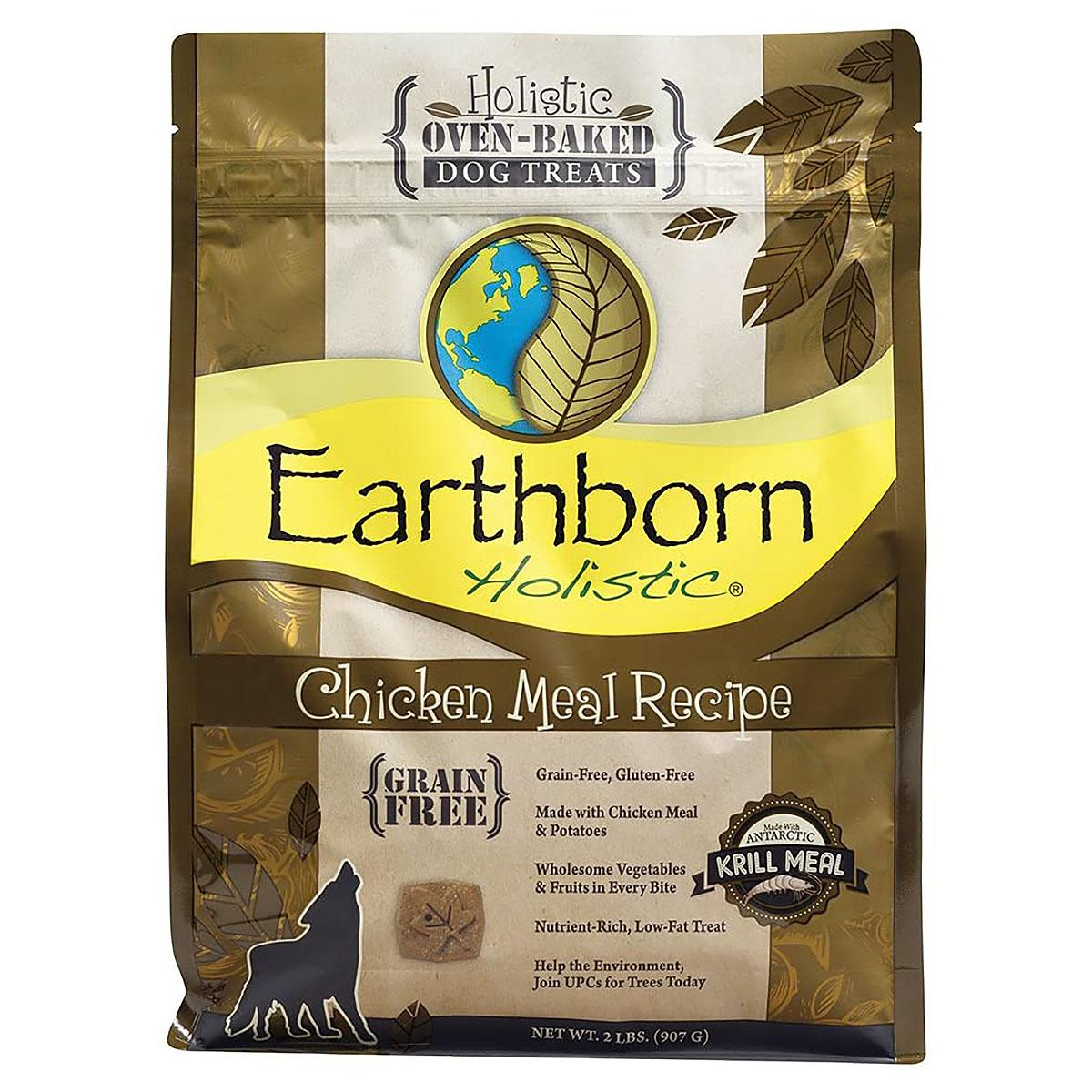 Earthborn Holistic Grain-Free Oven Baked Biscuits Dog Treats - Chicken
