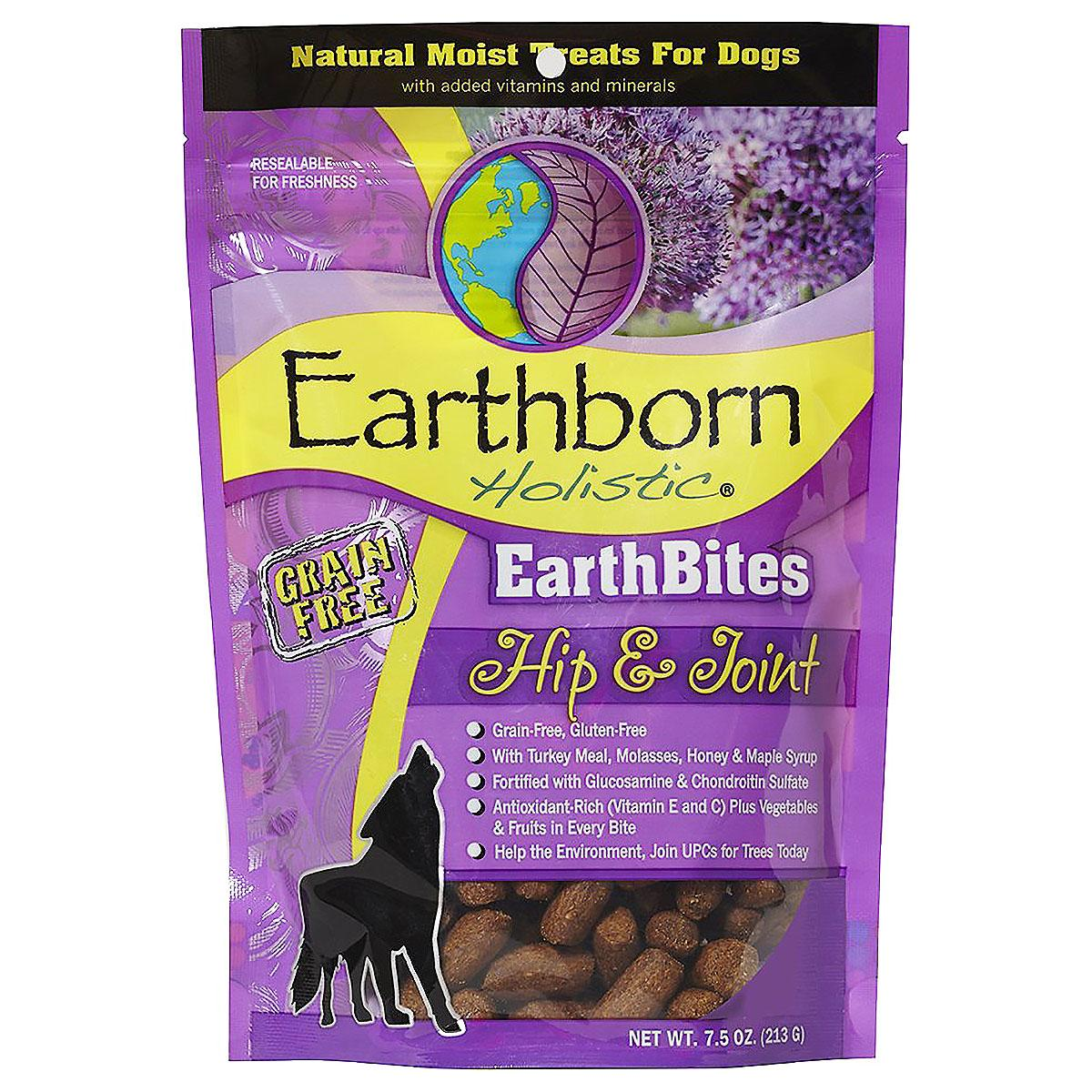 Earthborn Holistic Grain-Free EarthBites Moist Dog Treats - Hip & Joint Formula