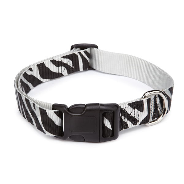 East Side Collection Animal Print Dog Collar - Zebra