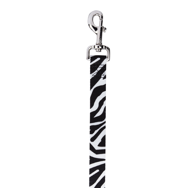 East Side Collection Animal Print Dog Leash - Zebra