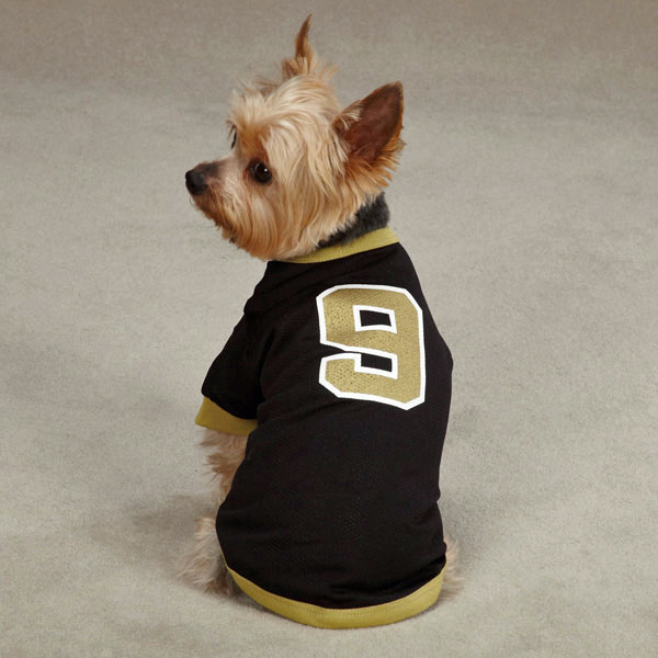 f79207ced ... 35.00 Leader of the Pack Dog Football Jersey - Black and Gold ... New  Orleans Saints Mesh ...