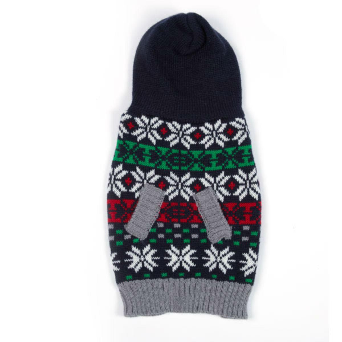 East Side Collection Snowflake Dog Sweater Hoodie