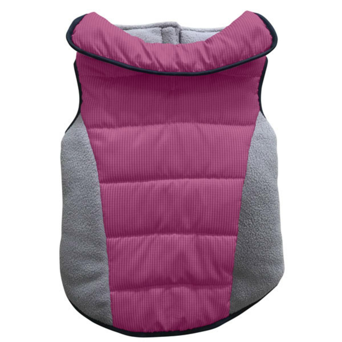 East Side Collection Sporty Puff & Fleece Dog Parka - Pink