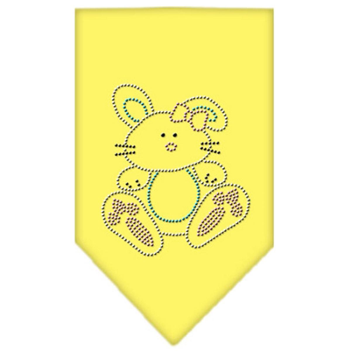 Easter Bunny Rhinestone Dog Bandana - Yellow