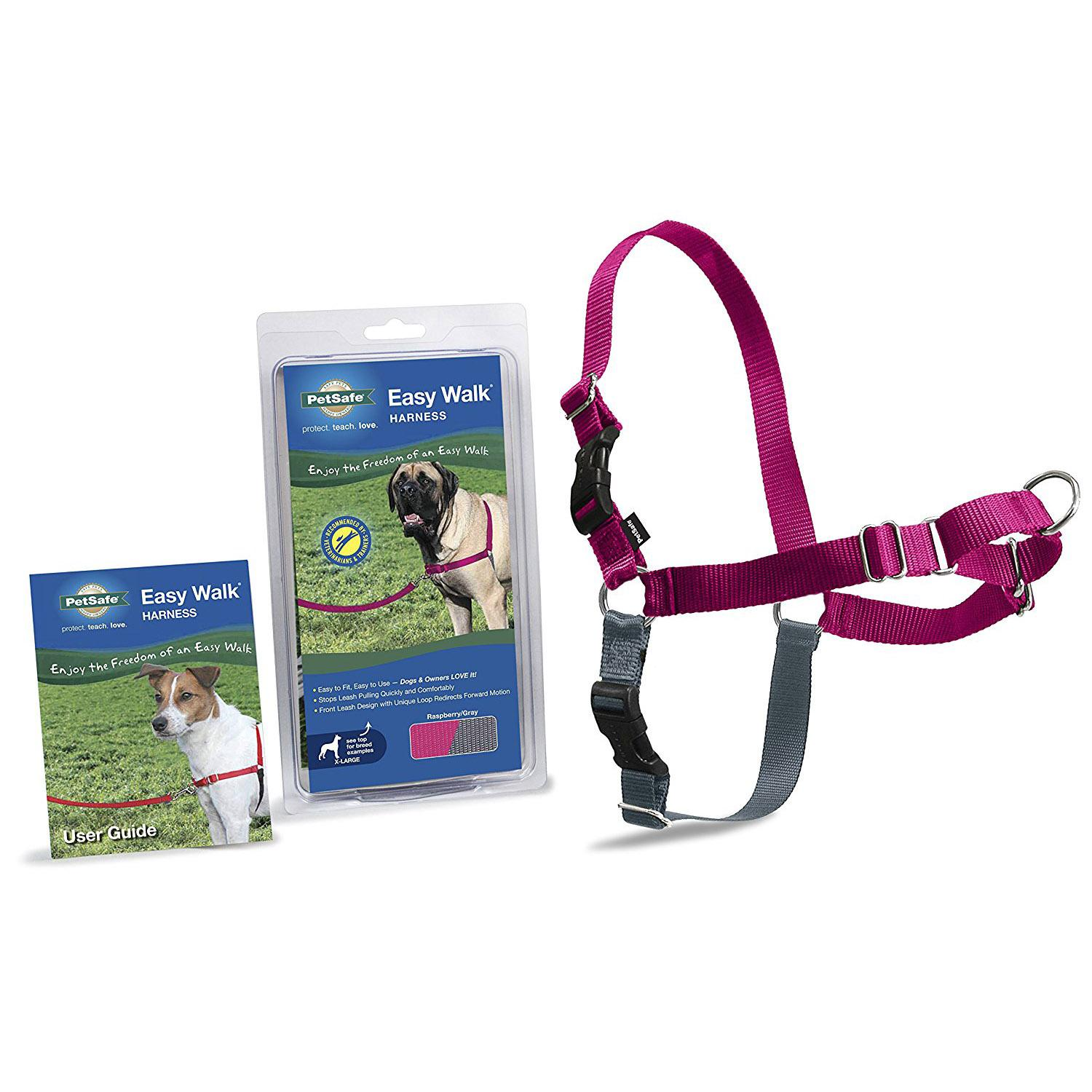 Easy Walk Nylon Harness by PetSafe - Raspberry/Grey