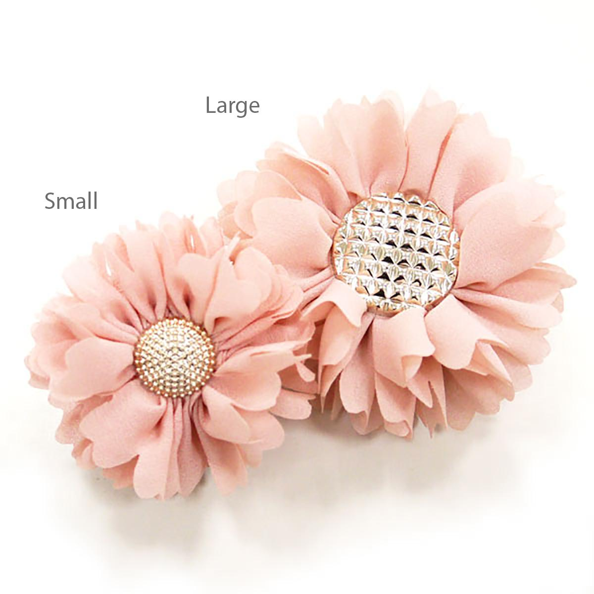EasyBOW Flower 1 Button Dog Collar Attachment by Dogo - Pink