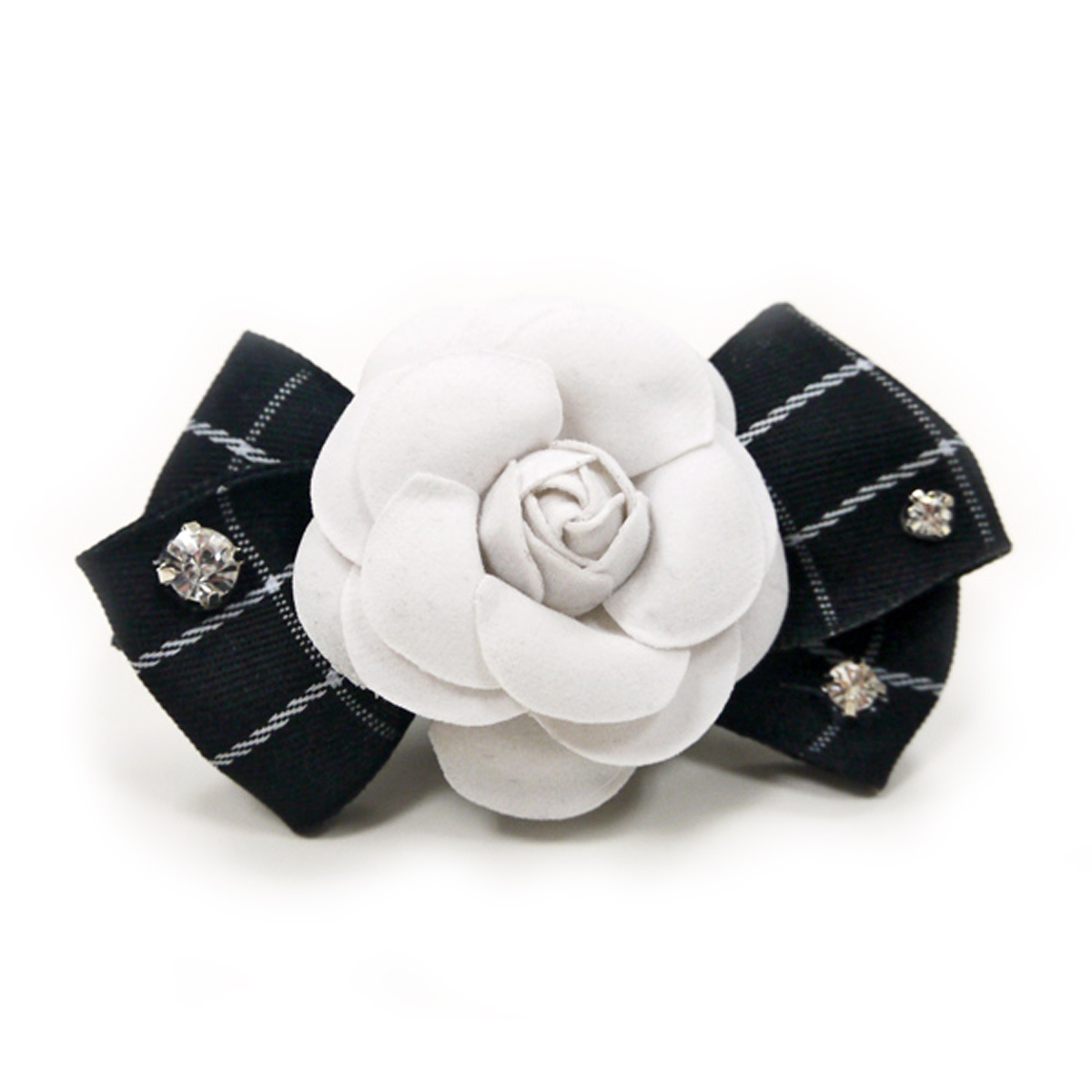 EasyBOW Flower Bow Dog Collar Attachment by Dogo - Black