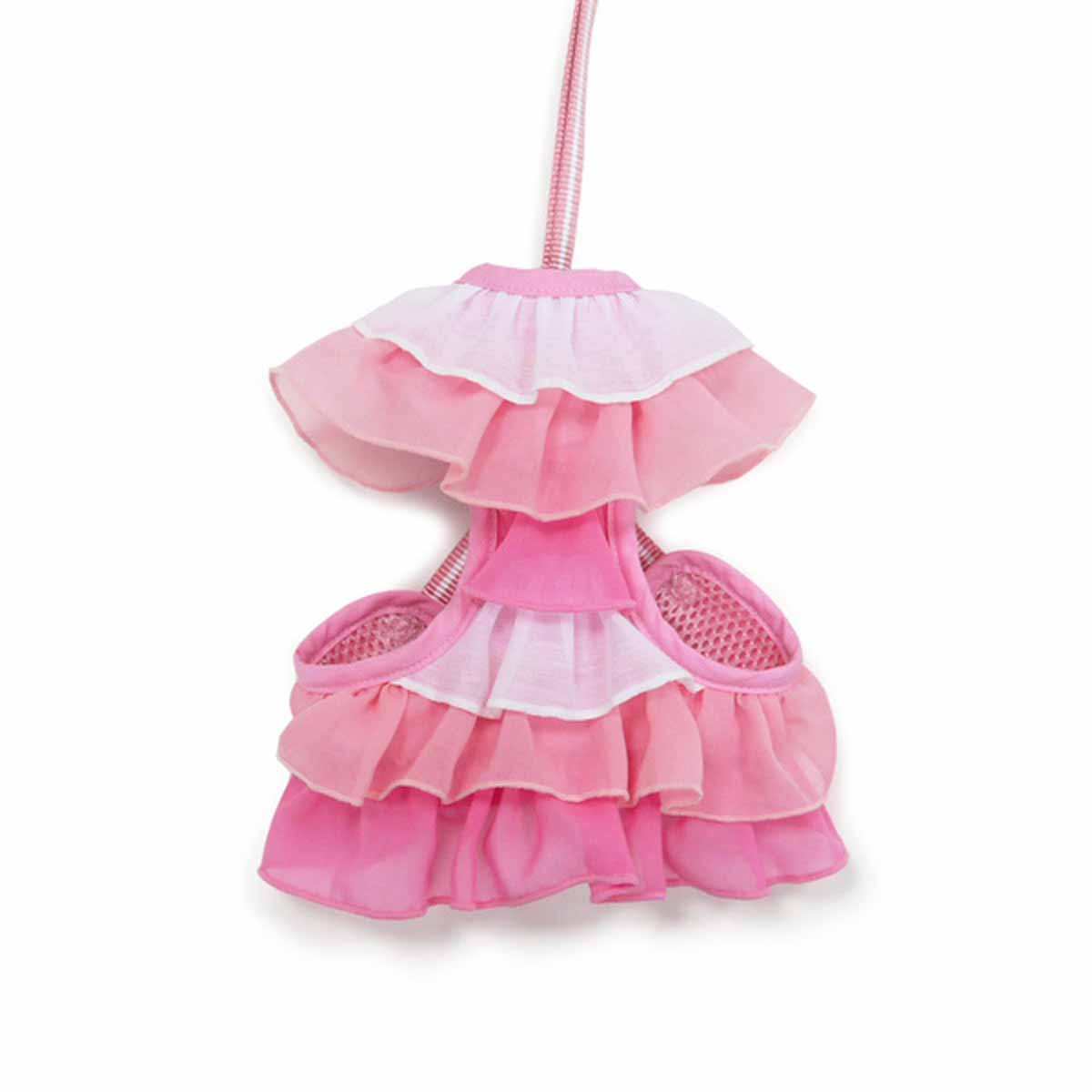 EasyGo Multi Ruffle Dog Harness by Dogo - Pink