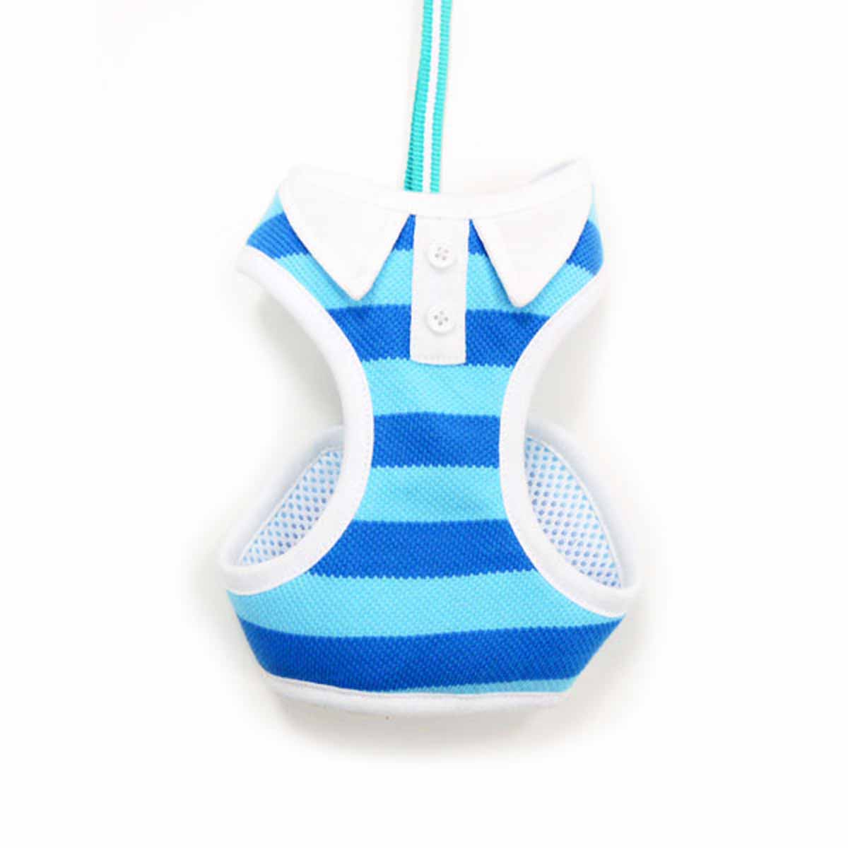 DOGO EasyGo Polo Stripe Dog Harness - Blue