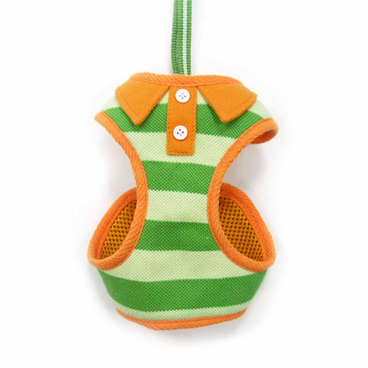 EasyGo Polo Stripe Dog Harness by Dogo - Green