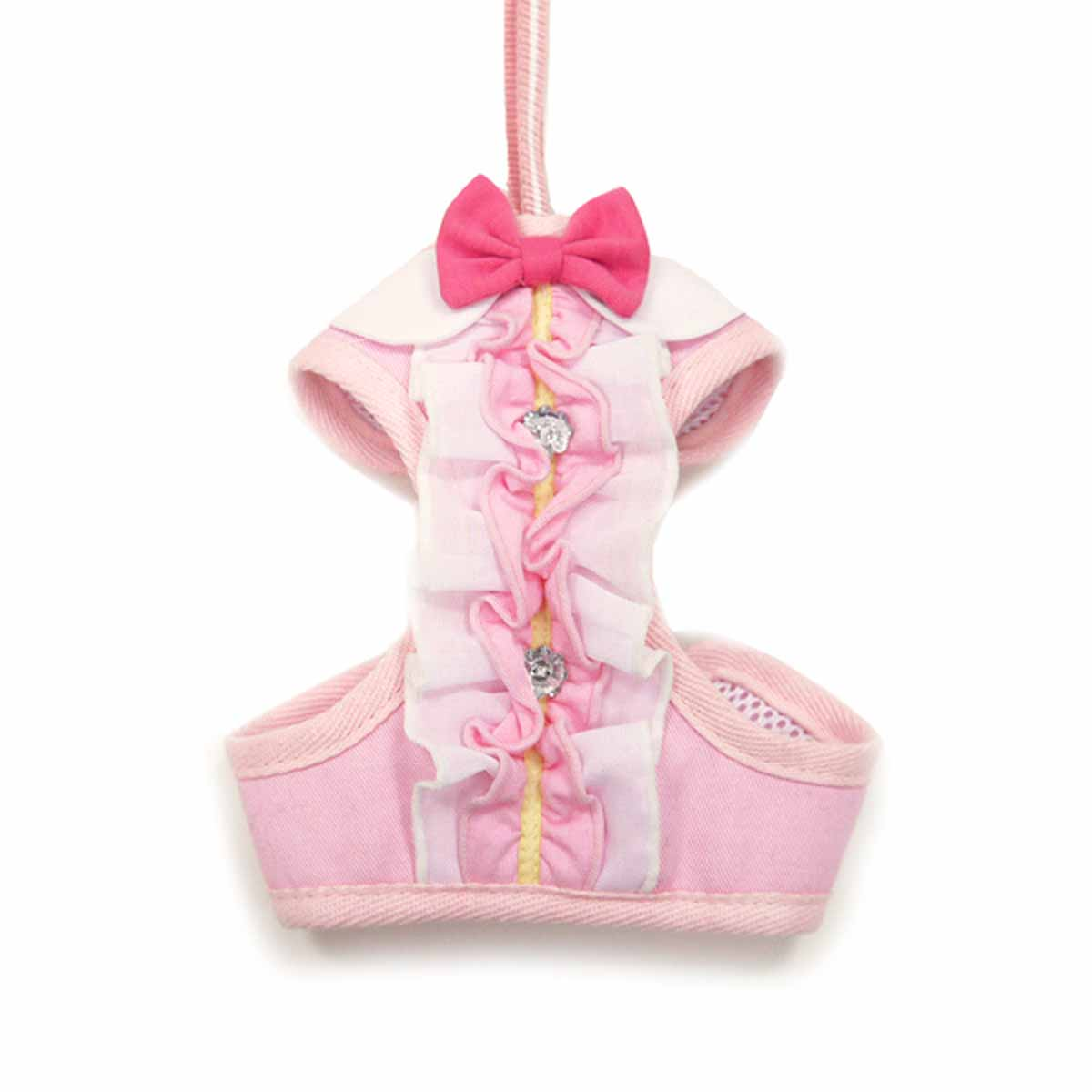 EasyGo Ruffle Dog Harness by Dogo - Pink