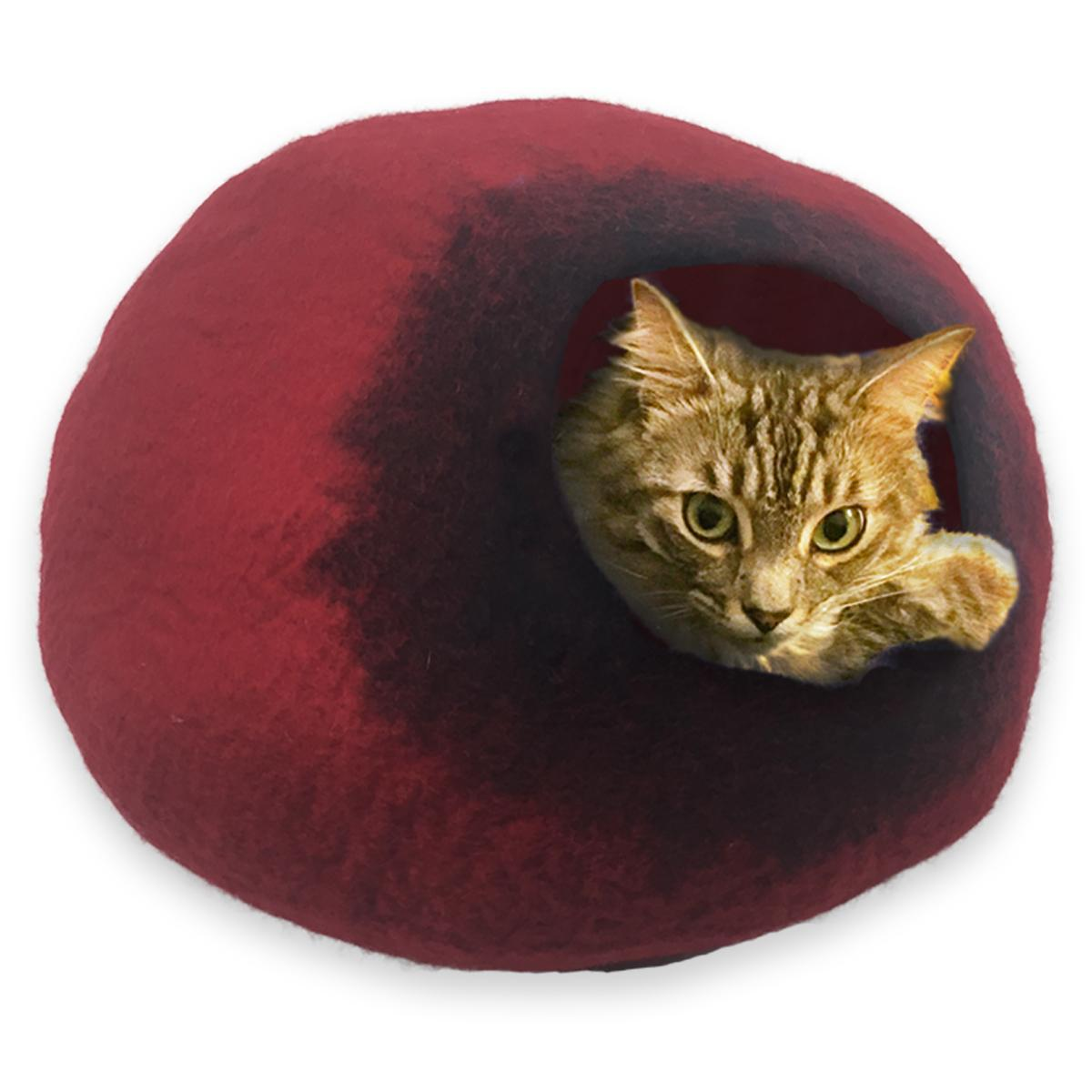 Walking Palm Large Cat Cave - Red and Black