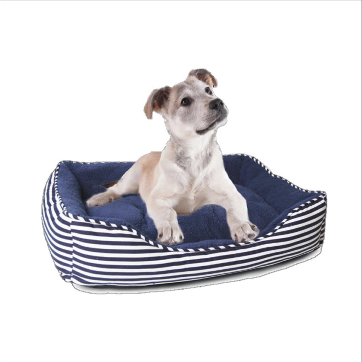 Ahoy Striped Dog Bed - Blue