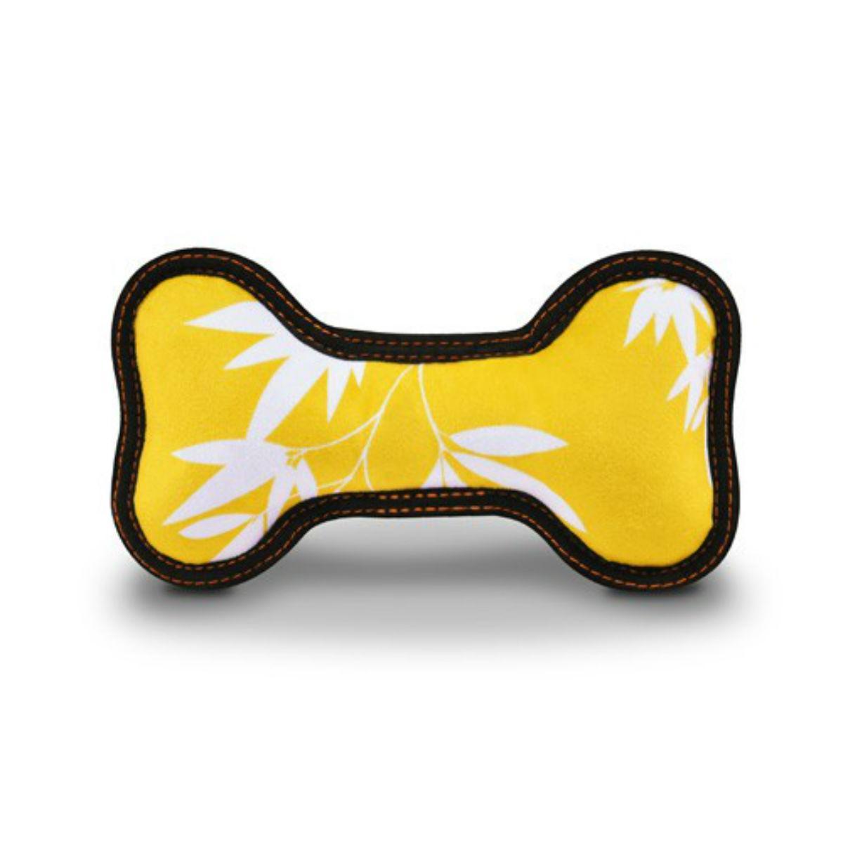 ECO P.L.A.Y. Bone Dog Toy - Bamboo Mustard