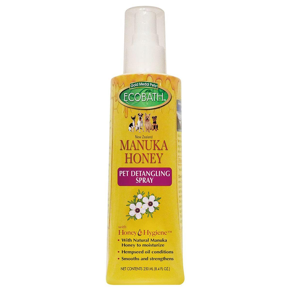 EcoBath Manuka Honey Pet Detangling Spray by Cardinal Pet Care