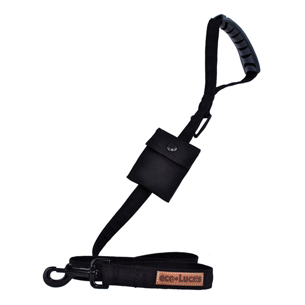 Eco-Lucks Solid Black Dog Leash