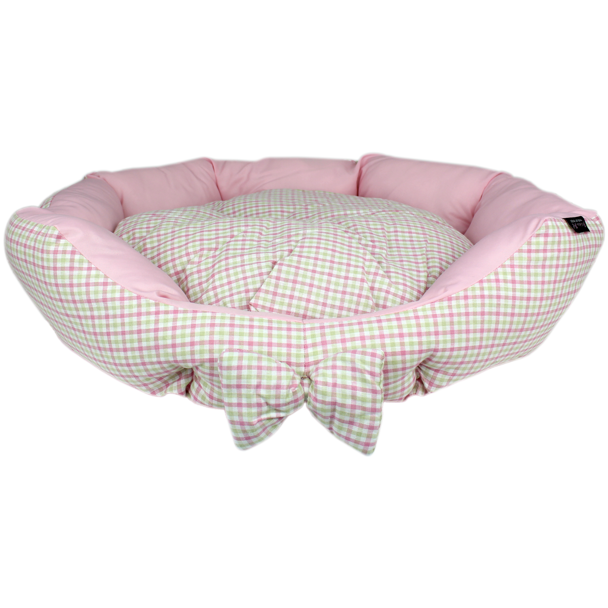 Parisian Pet Pinkberry Plaid Dog Bed