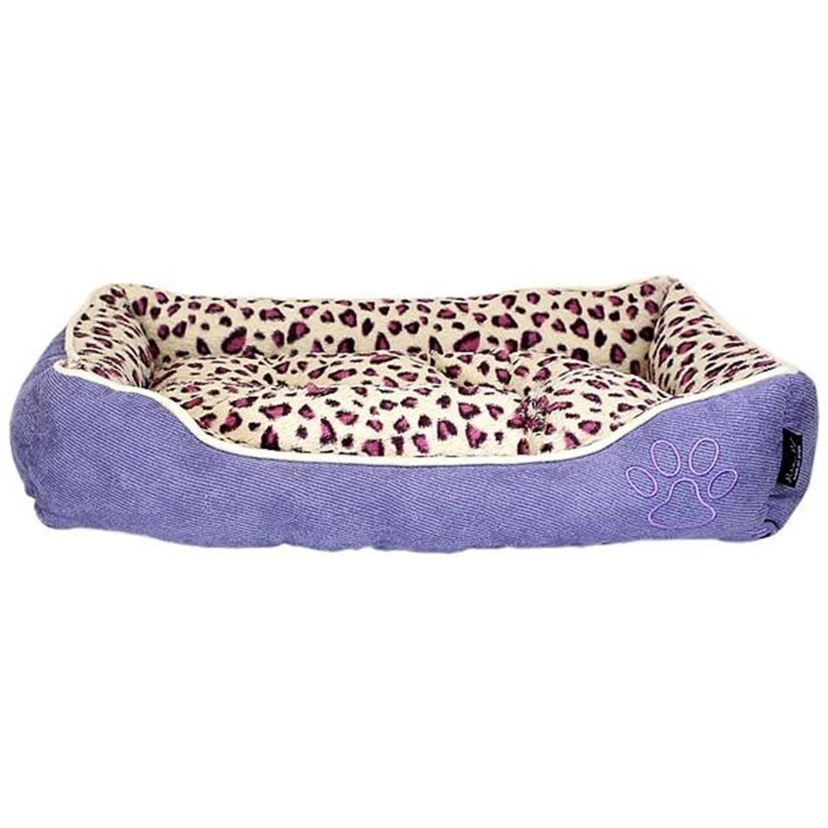 Parisian Pet Safari Lounger Dog Bed - Purple