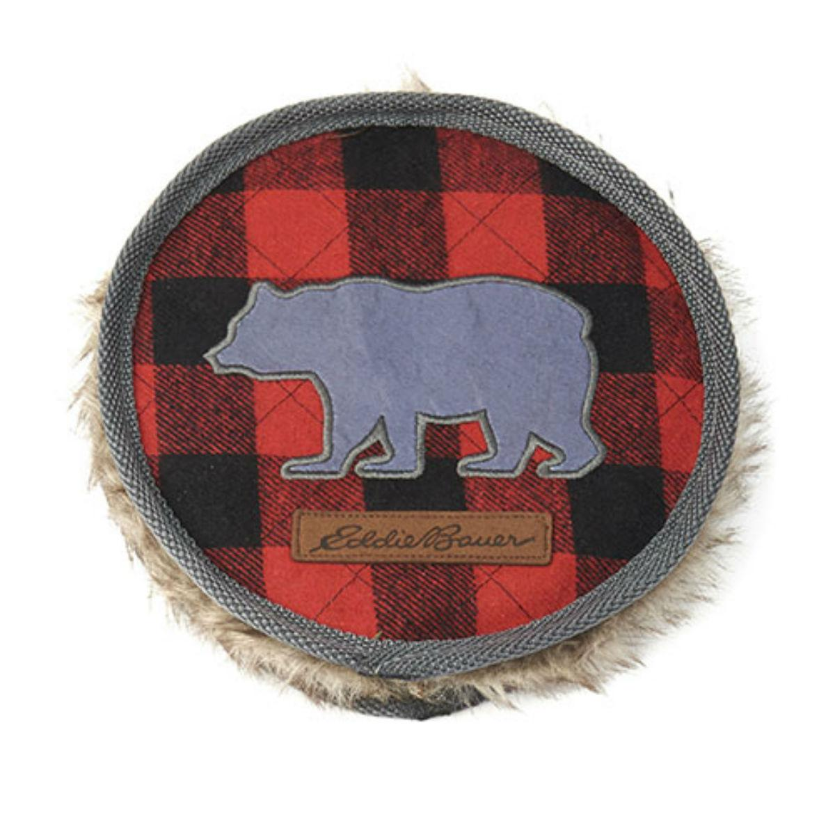 Eddie Bauer Bear Disc Dog Toy - Buffalo Plaid