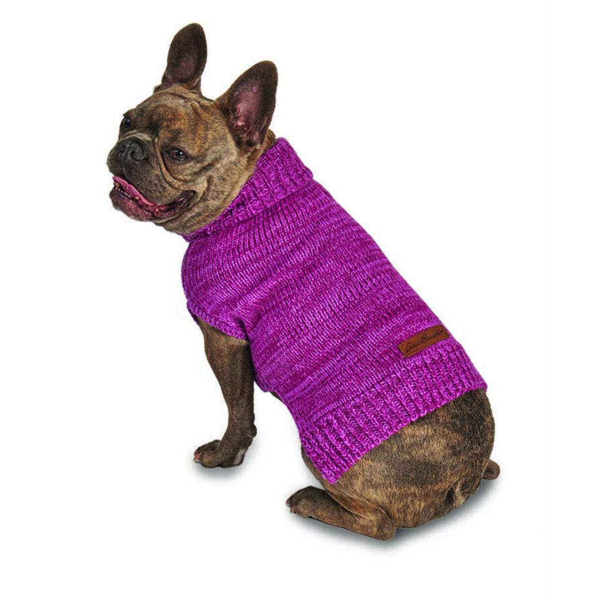 Eddie Bauer Everett Marled Dog Sweater - Dusty Purple Marle