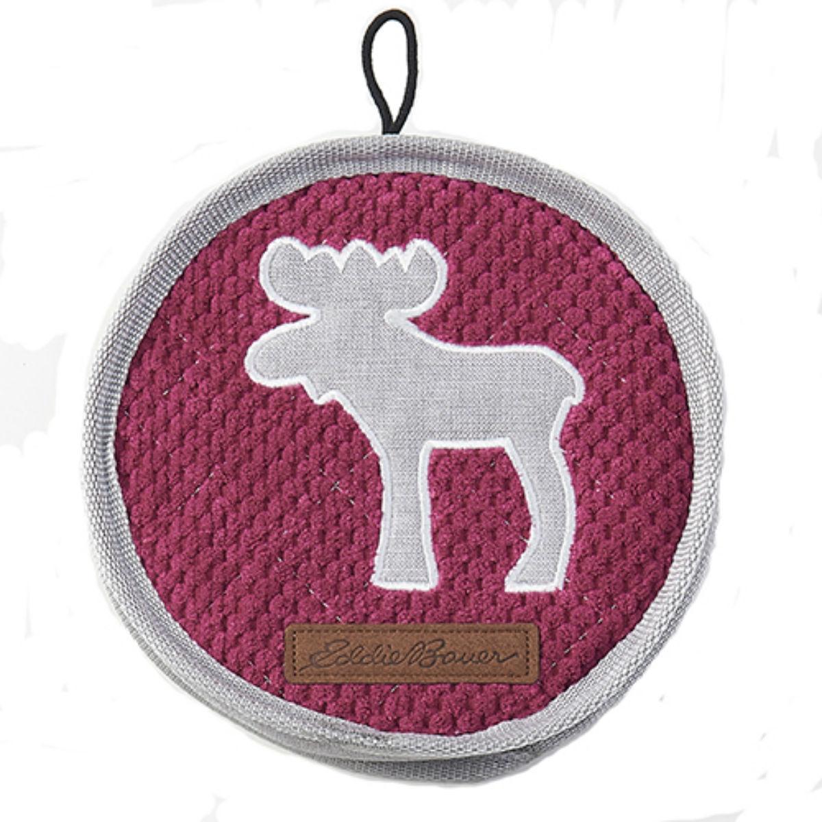 Eddie Bauer Moose Disc Dog Toy - Raspberry