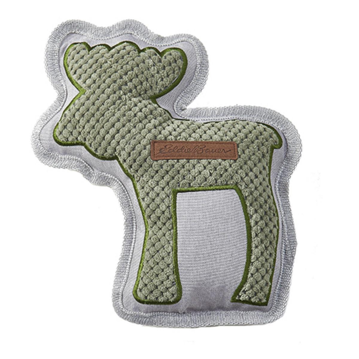Eddie Bauer Quilted Plush Moose Dog Toy - Green