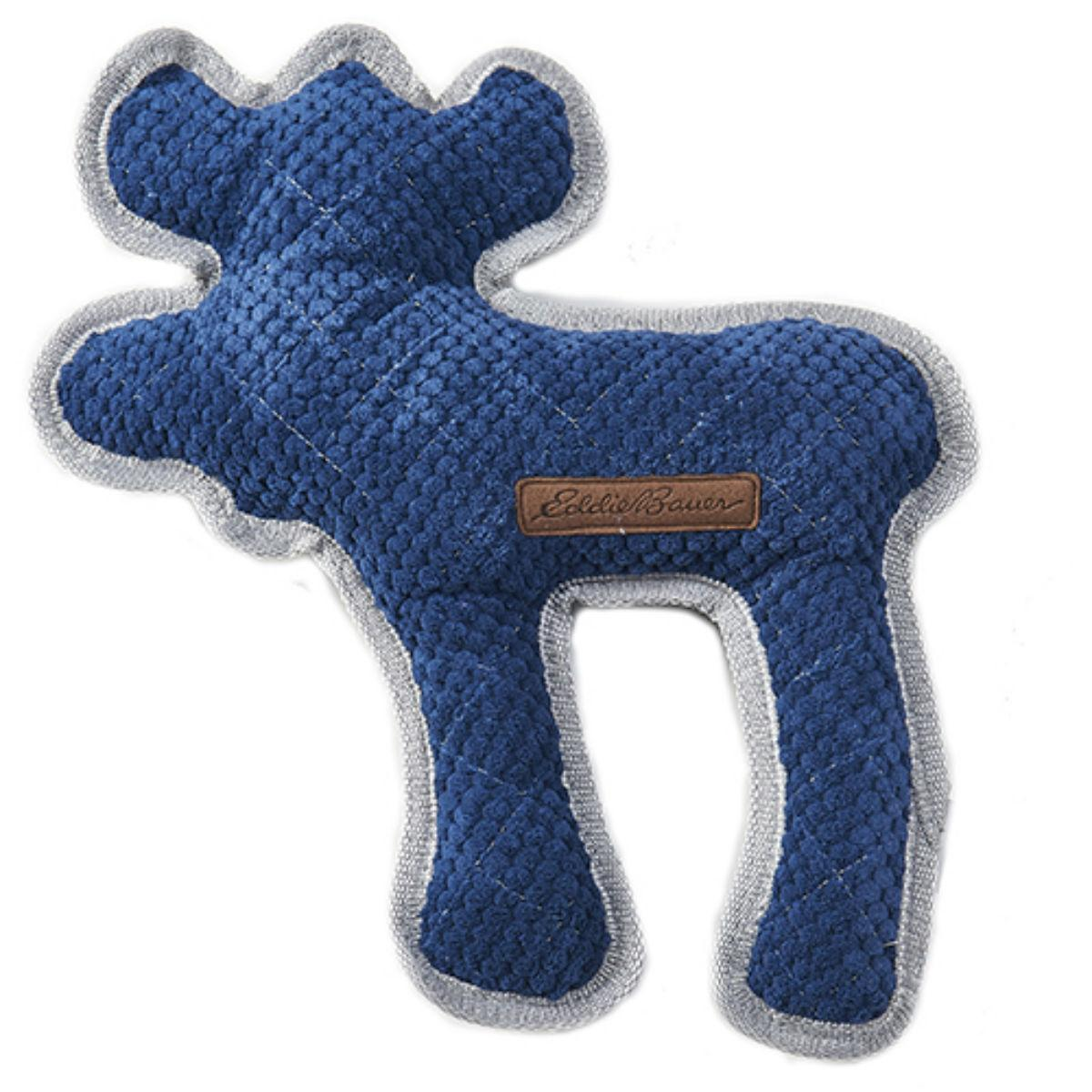 Eddie Bauer Quilted Plush Moose Dog Toy - Navy