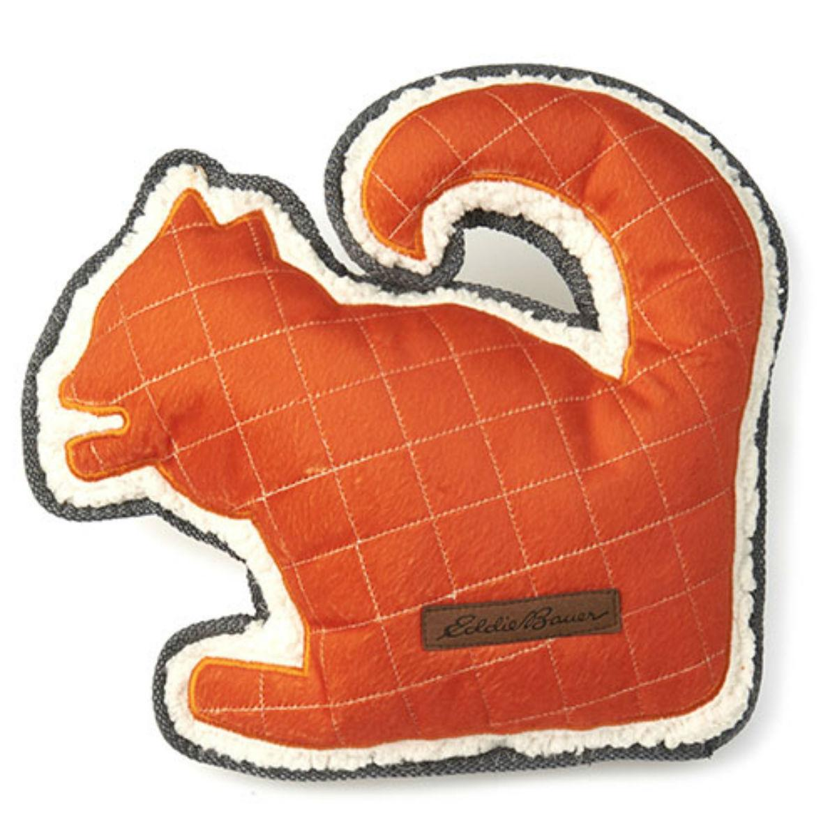 Eddie Bauer Squirrel Dog Toy - Orange