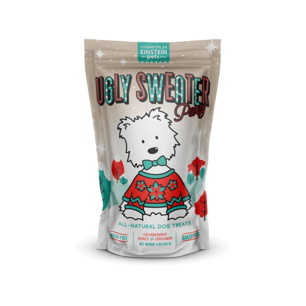 Einstein Pets Ugly Sweater Party Dog Treats - Cranberry, Honey and Cinnamon