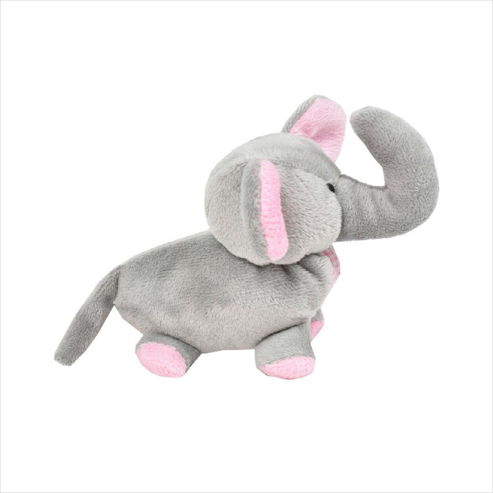 Elephant Safari Baby Pipsqueak Dog Toy By Oscar Newman - Pink