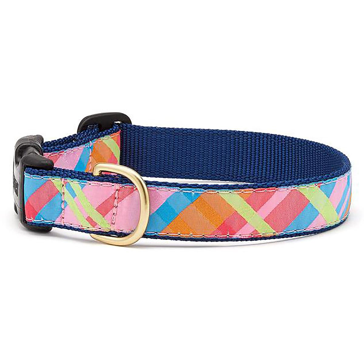 Pink Madras Dog Collar by Up Country