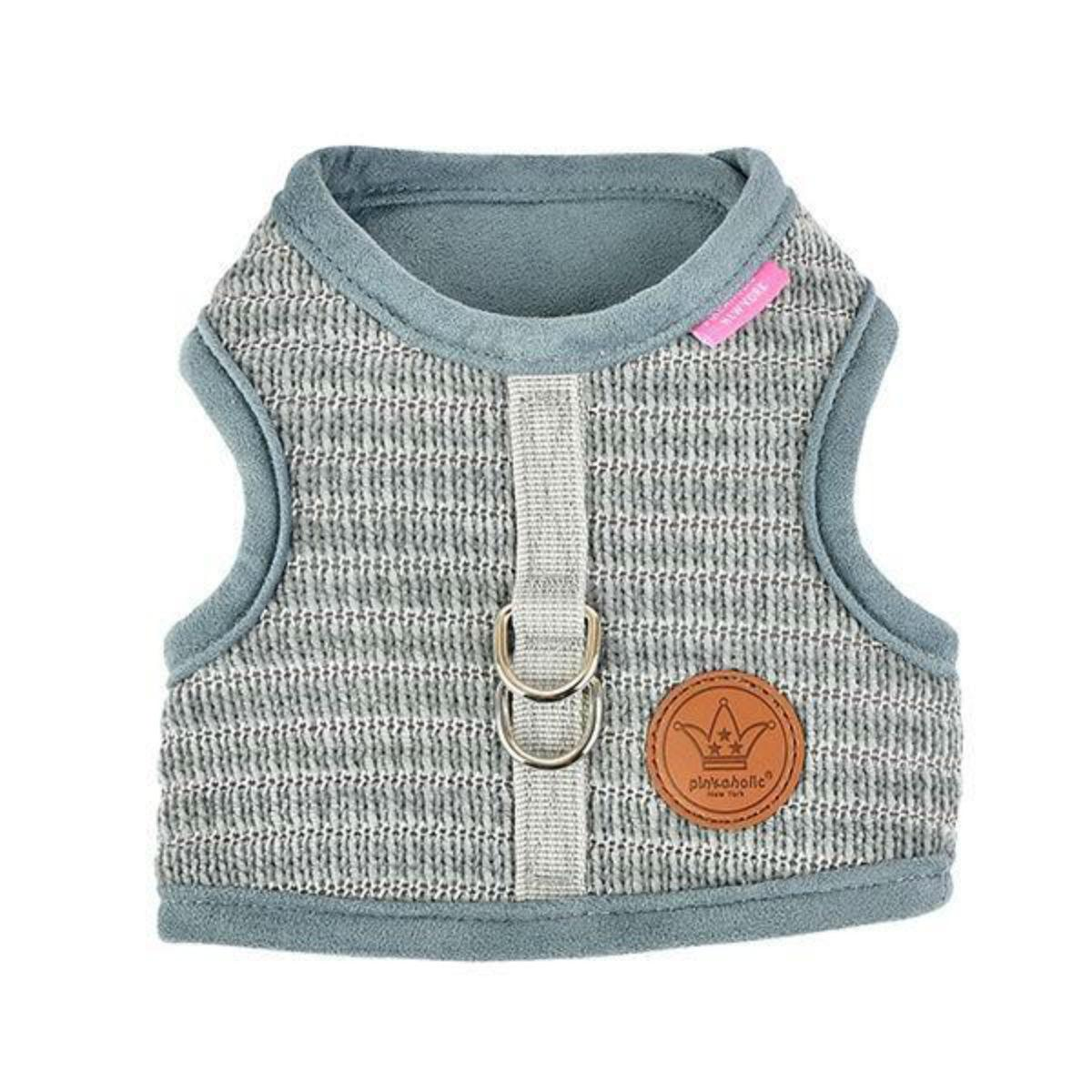 Elicia Pinka Dog Harness by Pinkaholic - Grey