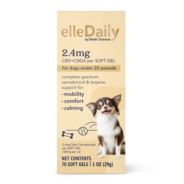ElleVet Sciences ElleDaily Soft Gel Dog Supplement for Small Dogs_main