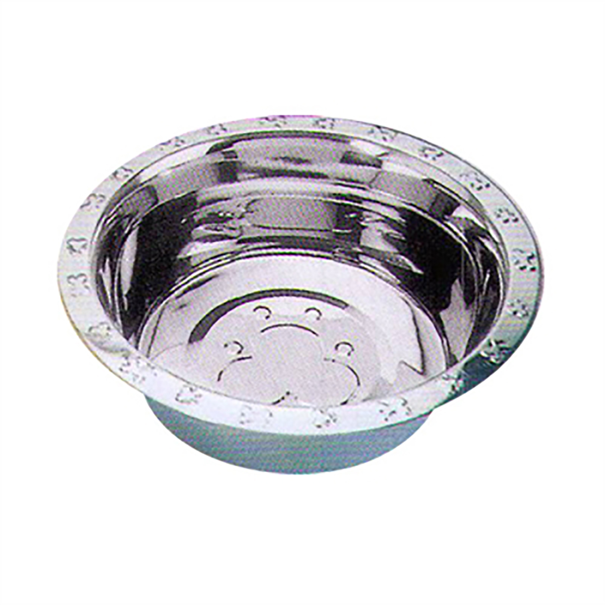 Embossed Rim Dog Bowl by QT Dog