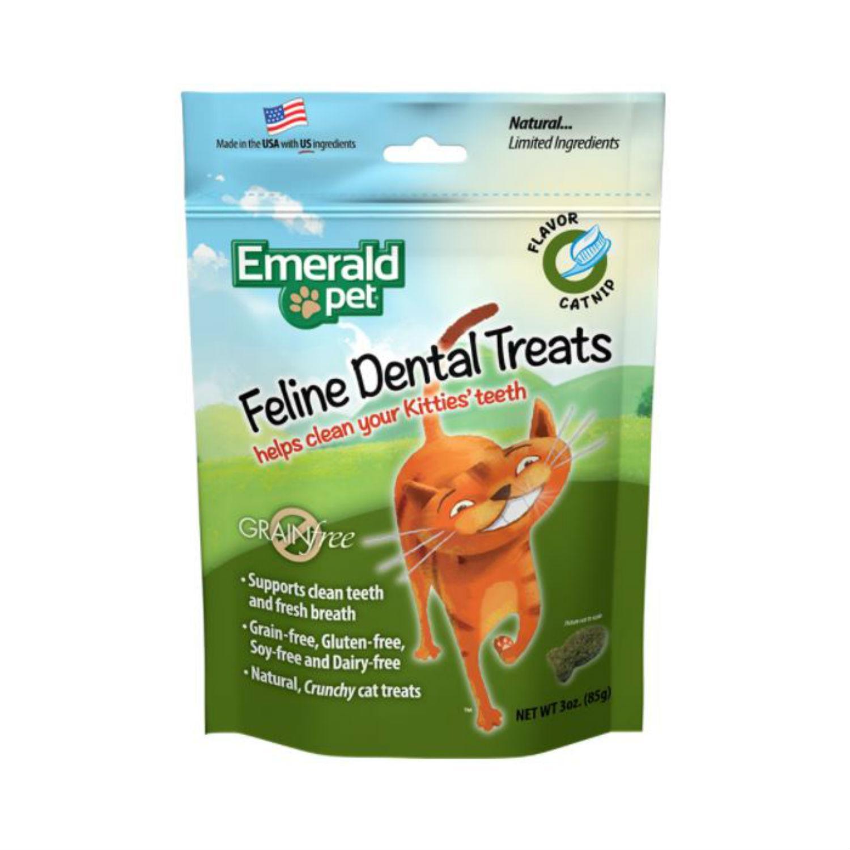 Emerald Pet Grain Free Feline Dental Treat - Catnip