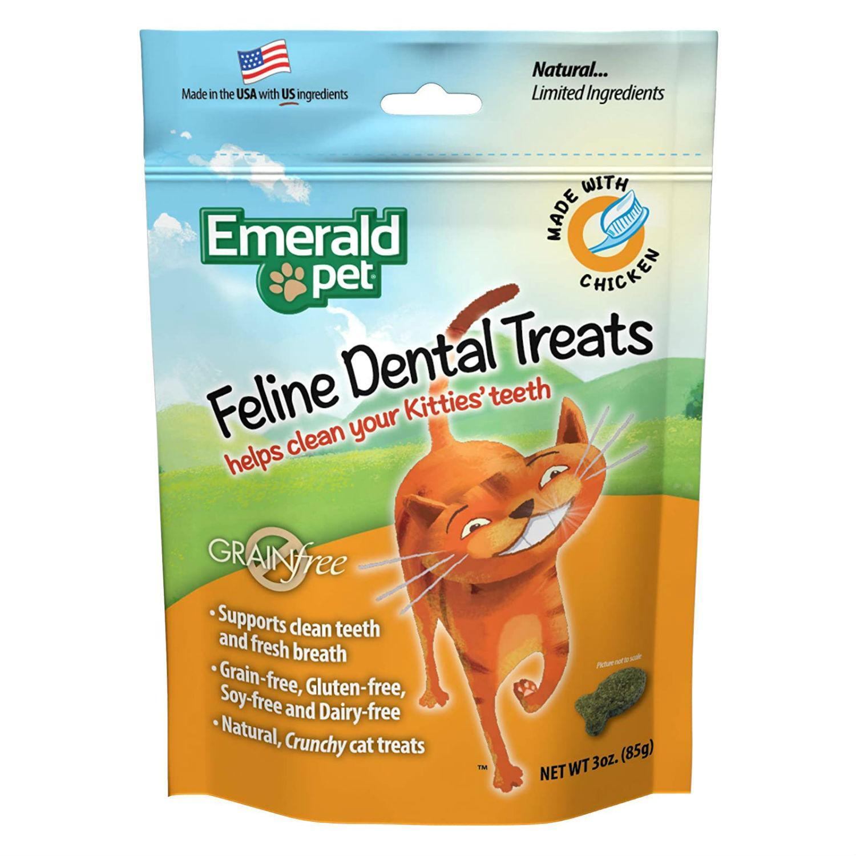 Emerald Pet Grain Free Feline Dental Treat - Chicken